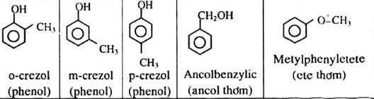 Các đồng phân khác của m-crezol