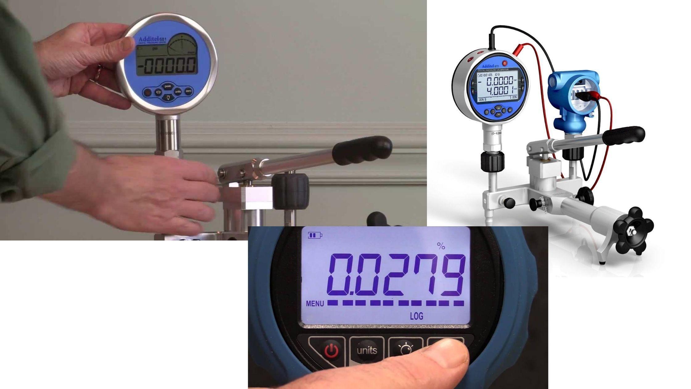 Cảm biến áp suất kết hợp đồng hồ điện tử