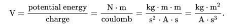 Volt sẽ được tính bằng hệ đơn vị SI