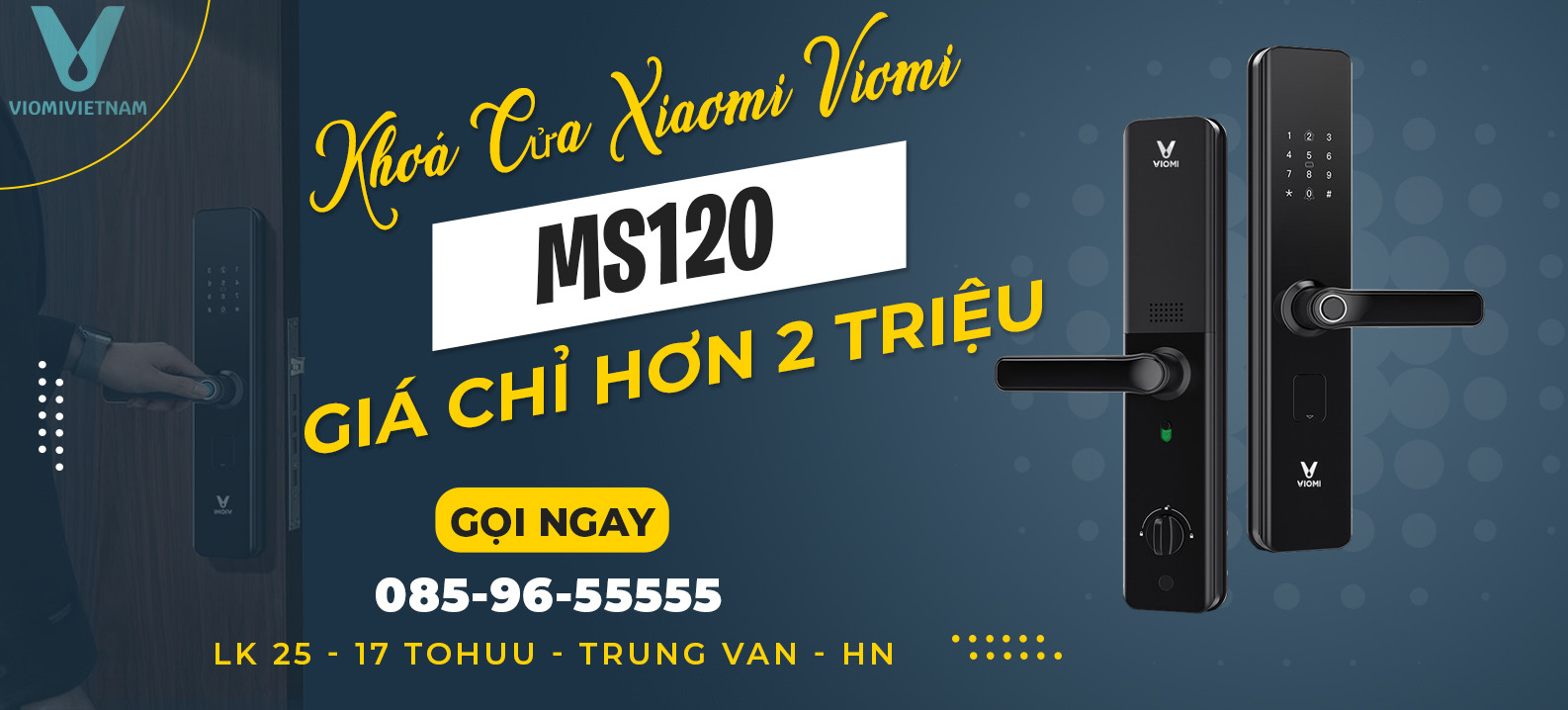 Khoá Xiaomi MS120 | Chỉ Hơn 2 Triệu