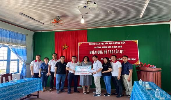 Vnsteel Thăng Long phối hợp cùng hệ thống nhà phân phối ủng hộ nhân dân các tỉnh Miền Trung