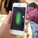 man-hinh-iphone-5-bi-dom-xanh