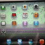 màn hình ipad bị loang