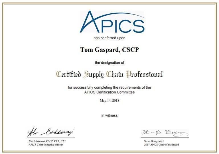 chứng chỉ logistics quốc tế cscp