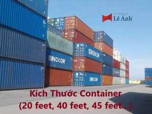 Kích Thước Container (20 feet, 40 feet, 45 feet...)